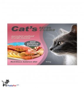 Cat's Agree Succlulent Seafood In Crab Canned Cat Food 400g